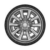 Car wheel isolated on white background. Stock Image