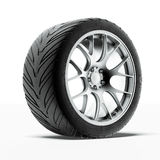Car wheel. Isolated on a white background. 3d render stock illustration