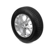 Car wheel isolated on white. tire Royalty Free Stock Photo