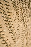 Car wheel mark sand. Transport concept background Stock Photos