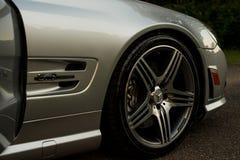 Car wheel. Mercedez car wheel with shiny rims Royalty Free Stock Photography