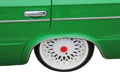 Car wheel, retro vehicle - isolate Royalty Free Stock Photo
