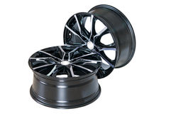 Car wheel Rim isolated on white. Stock Image