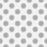 Car wheel seamless pattern Royalty Free Stock Images