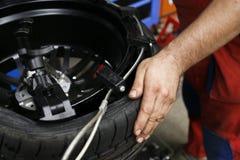 Car wheel service Stock Photo