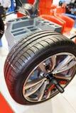 Car wheel service station Stock Photos