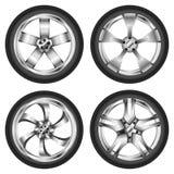 Car wheel set Royalty Free Stock Images