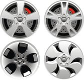 Car wheel set Stock Images