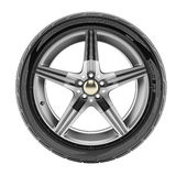 Car wheel with sport rims Royalty Free Stock Photos