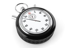 Car wheel with stopwatch. On white background stock illustration
