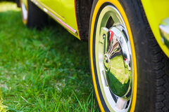 Car wheel in summer Stock Image