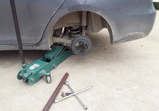 Car wheel tire replacement Stock Photos