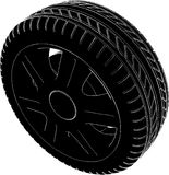 Car Wheel Tire Vector 02. Car Wheel Tire High Detail Isolated On White Illustration Vector Royalty Free Stock Photography
