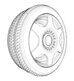 Car Wheel Tire Vector 05 Stock Photos