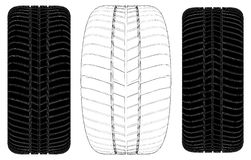 Car Wheel Tire Vector 07 Royalty Free Stock Photos