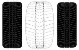 Car Wheel Tire Vector 07 Royalty Free Stock Photos