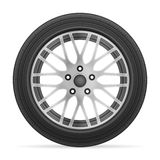 Car wheel tire. On a white background Royalty Free Stock Photography