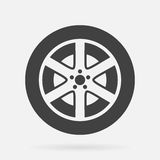 Car wheel. Vector icon isolated on grey background stock illustration