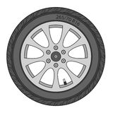 Car Wheel, vector illustration Royalty Free Stock Photos