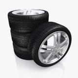 Car wheel, vehicle part. Royalty Free Stock Image