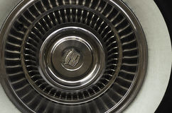 Car wheel. Velg polished car wheel with white strip Royalty Free Stock Photography