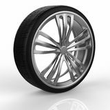 Car wheel. On white background Royalty Free Stock Photography