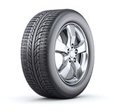 Car wheel. On white background - 3D illustration Royalty Free Stock Photos