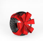 Car wheel on white background. 3d render Royalty Free Stock Image