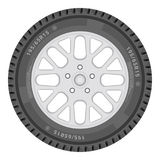 Car Wheel  On A White Background. Vector Illustration. Car Wheel  On A White Background. Vector Royalty Free Stock Photos