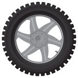 Car wheel on white - vector illustration Stock Photography
