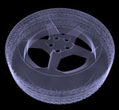 Car wheel xray Stock Image