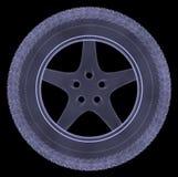 Car wheel xray Royalty Free Stock Photography