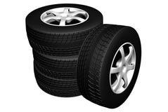 Car wheels Stock Image