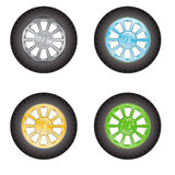 Car wheels Royalty Free Stock Image