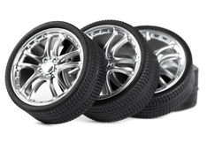 Car wheels Stock Photography
