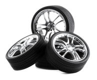 Car wheels Stock Photos