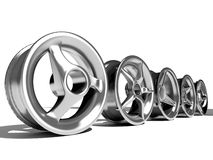 Car wheels Royalty Free Stock Photos