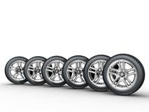 Car wheels Stock Photo