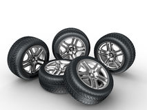 Car wheels Royalty Free Stock Photography
