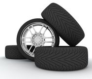 Car Wheels. Concept design Royalty Free Stock Images