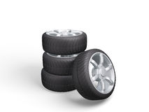 Car Wheels. Concept design Royalty Free Stock Photography