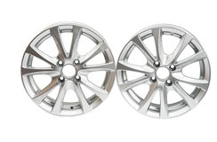 car wheels isolated Royalty Free Stock Photo