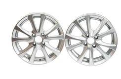 Car wheels isolated Royalty Free Stock Photo
