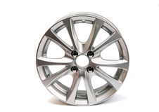 Car wheels isolated. On a white background Stock Photo