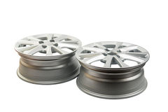 car wheels isolated Royalty Free Stock Image