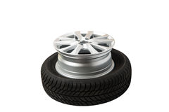 car wheels isolated Royalty Free Stock Images