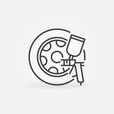 Car wheels paint icon Royalty Free Stock Images