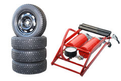 Car wheels and Pump Stock Images