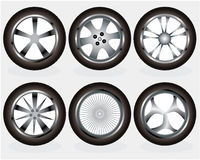 Car wheels set Royalty Free Stock Photo