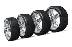 Car wheels set Stock Photos